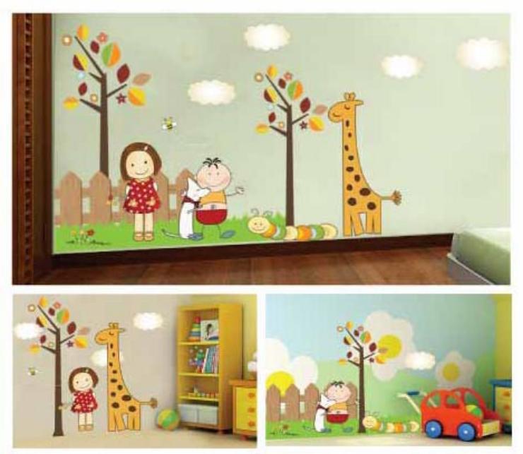 斯图牌 儿童贴 卡通客厅卧室沙发书房背景男孩女孩墙贴 st8883