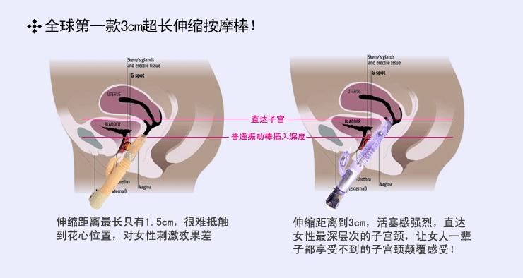 至尊3g超长伸缩 女性振动棒