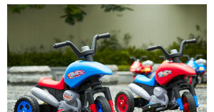 乐的儿童电动车三轮摩托车8010红色