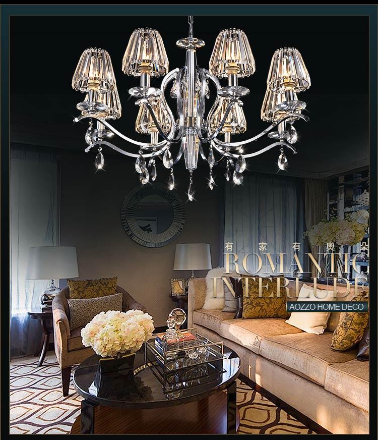 【奥朵】欧式吊灯奢华水晶灯客厅灯餐厅灯卧室灯饰