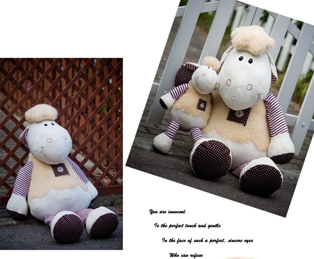毛绒玩具 哈哈格 勇敢帅气多利羊1.2米大号毛绒玩具 娃娃