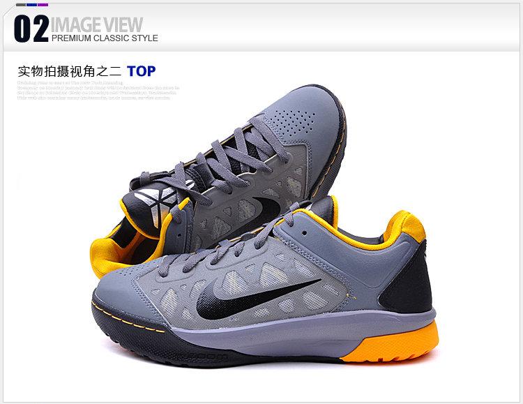 耐克男科比系列zoom缓震高耐磨鞋底热熔稳定支撑透气