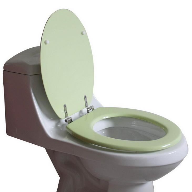 ts105浅绿色木质马桶盖板/座便器盖板
