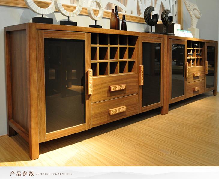 客厅冰箱柜效果图 实木冰箱柜效果图 实木餐边柜效果图