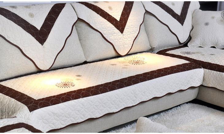沙发垫 刺绣 布艺