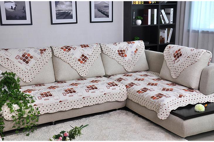 逸墅沙发垫布艺飘窗垫欧式人生几何【图片