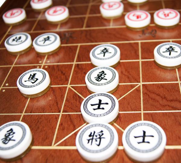 带抽屉棋盘中国象棋套装亚克力象棋