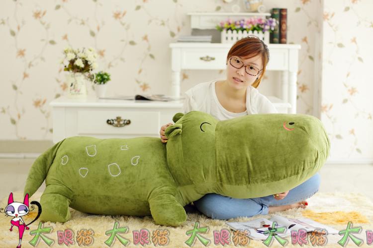 抱枕创意河马鳄鱼公仔大号毛绒玩具可爱超大