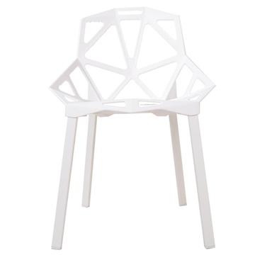 (黑白调)欧式创意阳台休闲椅子/时尚简约办公椅抗