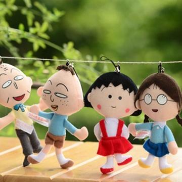 可爱毛绒公仔玩偶布娃娃; 花轮公仔; 【图】樱桃小丸子全家福