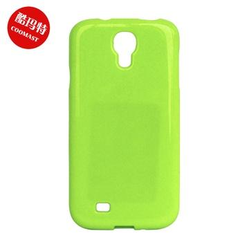 酷玛特三星i9500手机壳s4手机套盖世4保护壳保护套果冻彩虹(浅绿色)