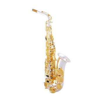 美德威萨克斯 降e调中音萨克斯管 镀银金键萨克斯乐器