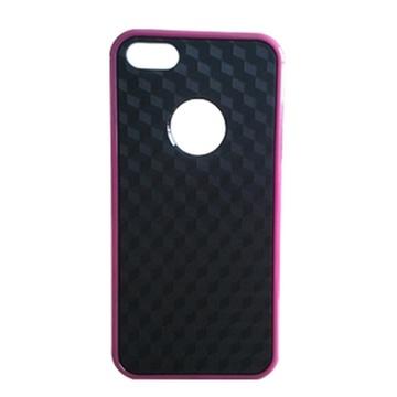 苹果iphone5糖果色外框 手机壳 白底3d纹 黑底3d