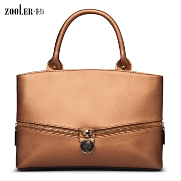 朱尔品牌 牛皮包包 头像吊坠女包 简约实用包包 新品女包单肩手提女包
