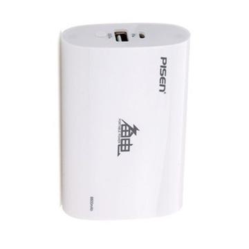 品胜(pisen)备电移动电源充电宝(白色)(6600mah)