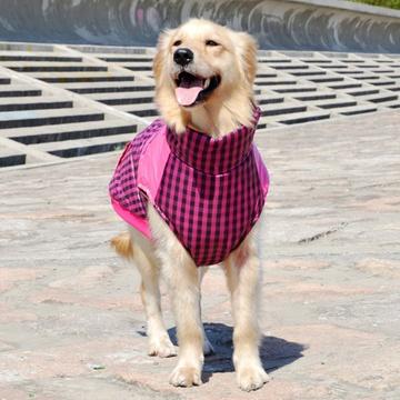 中大型犬狗狗衣服 风衣夹克 金毛哈士奇萨摩耶大狗服装(黄色 6号)图片