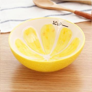 简家 日式创意可爱水果造型手绘陶瓷碗 米饭汤水果碗