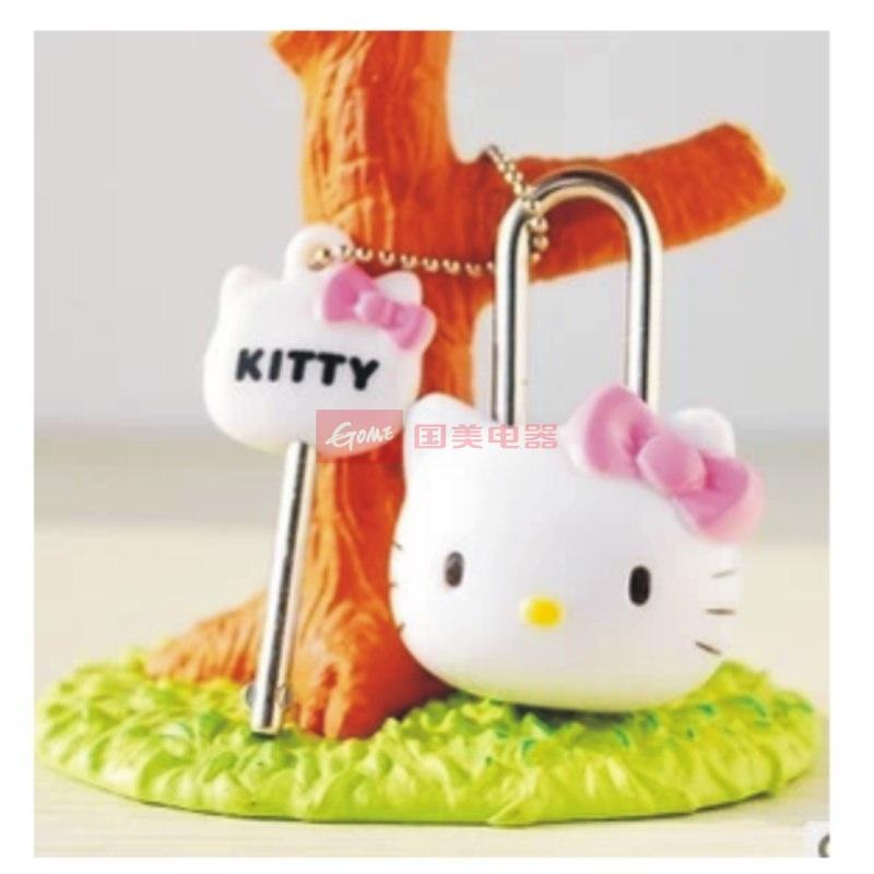 日照鑫 机器猫 hello kitty 可爱公仔头挂锁 卡通锁 记事本锁 钥匙扣