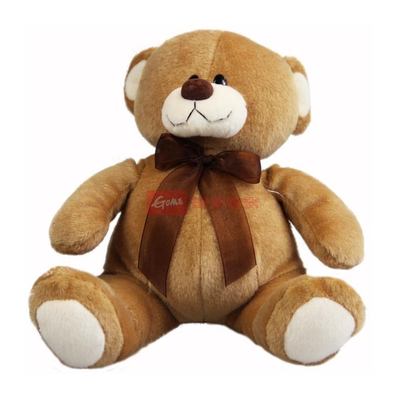 可爱熊 泰迪熊布娃娃 领结熊 毛绒玩具 娃娃 情人节礼品(深棕色)