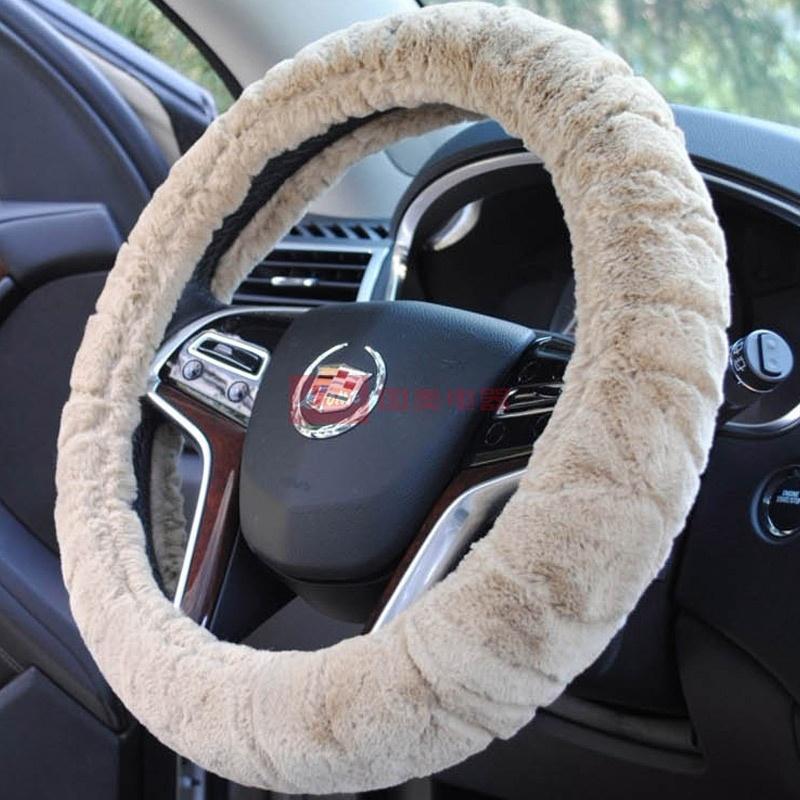 汽车冬季方向盘套长城哈弗h6h5h3哈弗m4m2腾翼c30c5兔毛专用把套(卡其