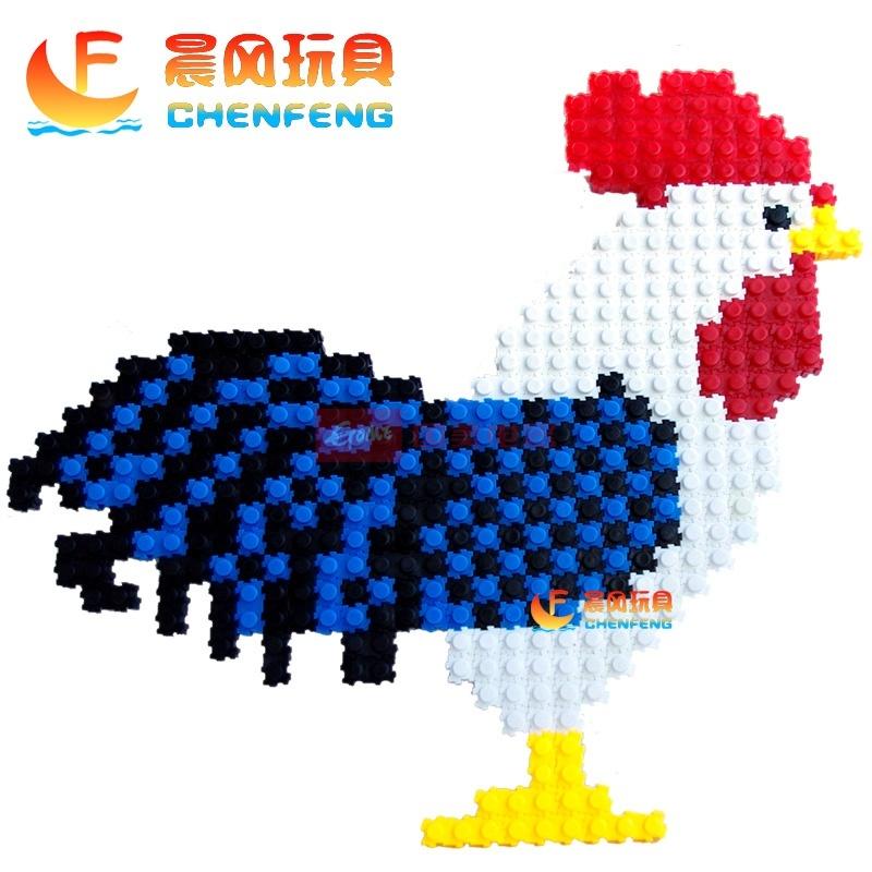 万能百变积木拼插3d立体拼图儿童益智桌面玩具乐高式塑料积木6岁(6色