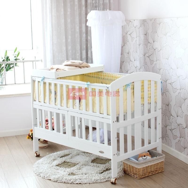 斯塔瑞欧式婴儿童床实木宝宝bb白色床艾瑞克适合0~12