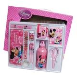 正品 迪士尼 小学生文具套装礼盒套盒文具用品带水壶豪华DM0934(粉色)