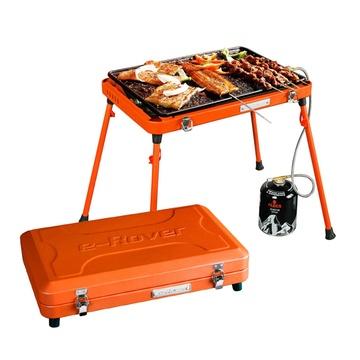 燒烤世家 邁克燒烤架 戶外便攜燒烤爐 四色加厚便攜 家用燃氣燒烤架
