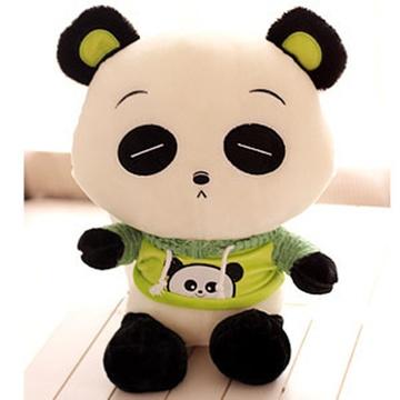 大眼猫 超萌穿卫衣小熊猫公仔玩偶 大熊猫毛绒玩具娃娃 抱抱熊女生日