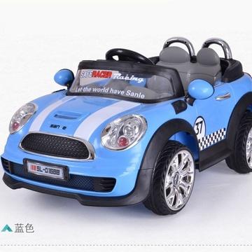 三乐 宝马款儿童电动车宝宝遥控小汽车四轮双驱童车小孩玩具车可坐