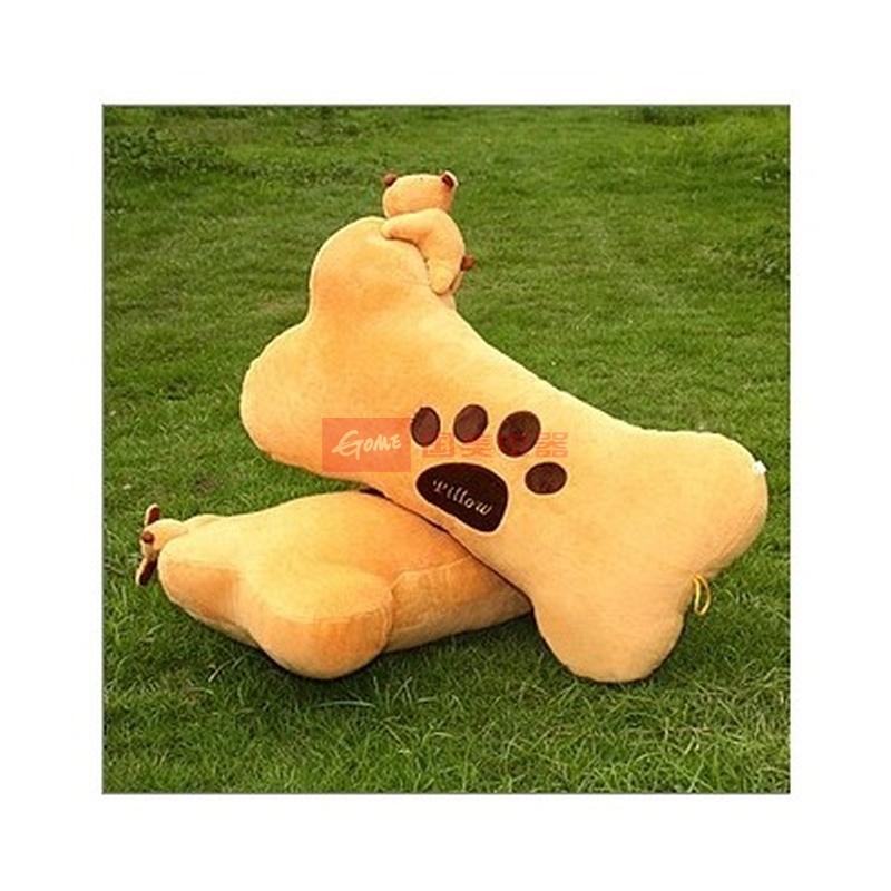 可爱饼干狗骨头午睡枕抱枕趴睡枕汽车腰垫毛绒玩具靠垫(如图 50cm)