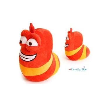 韩国卡通可爱爆笑虫子 臭屁虫毛毛虫毛绒玩具公仔 创意礼品(红色)