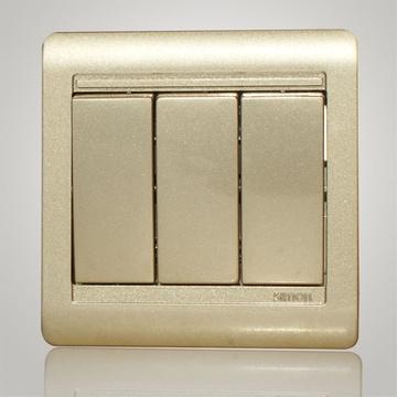 西蒙(simon)86型55系列三开双控琴键开关n51032b-56