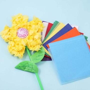 手揉纸手工折纸玫瑰折纸15*15cm纸花搓纸材料