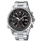 正品卡西欧手表 casio男表 商务休闲钢带三眼石英男表 EF-527D-1A男士品牌手表