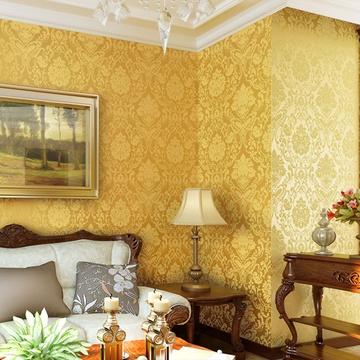 客厅壁纸电视背景墙卧室满铺墙纸gmo-a(金黄色)