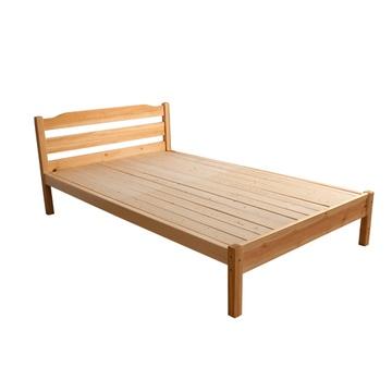 翠景园家具实木床双人床松木床简约现代儿童单人床(清漆色 1000*2000