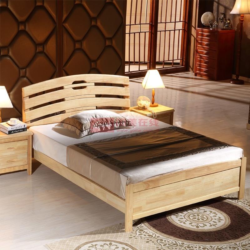 5米简约现代小孩床(送到楼下(原木色) 1.5*2米+床板)