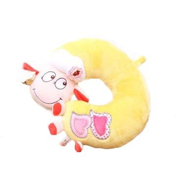 羊年礼物毛绒玩具可爱小绵羊护腰枕玩偶爱心羊腰枕办公室靠枕颈枕 u型