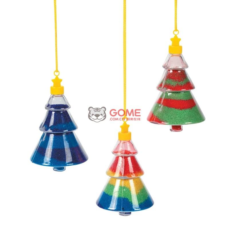 大贸商 森林动物圣诞树沙瓶 手工diy制作 不含沙 送漏斗 12个(圣诞树