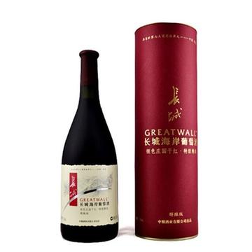 长城 海岸红酒 银色庄园 干红特 级精选葡萄酒750ml礼盒装 正品