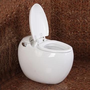 大卫伯爵卫浴新款鸡蛋马桶可爱造型圆型连体坐便器低