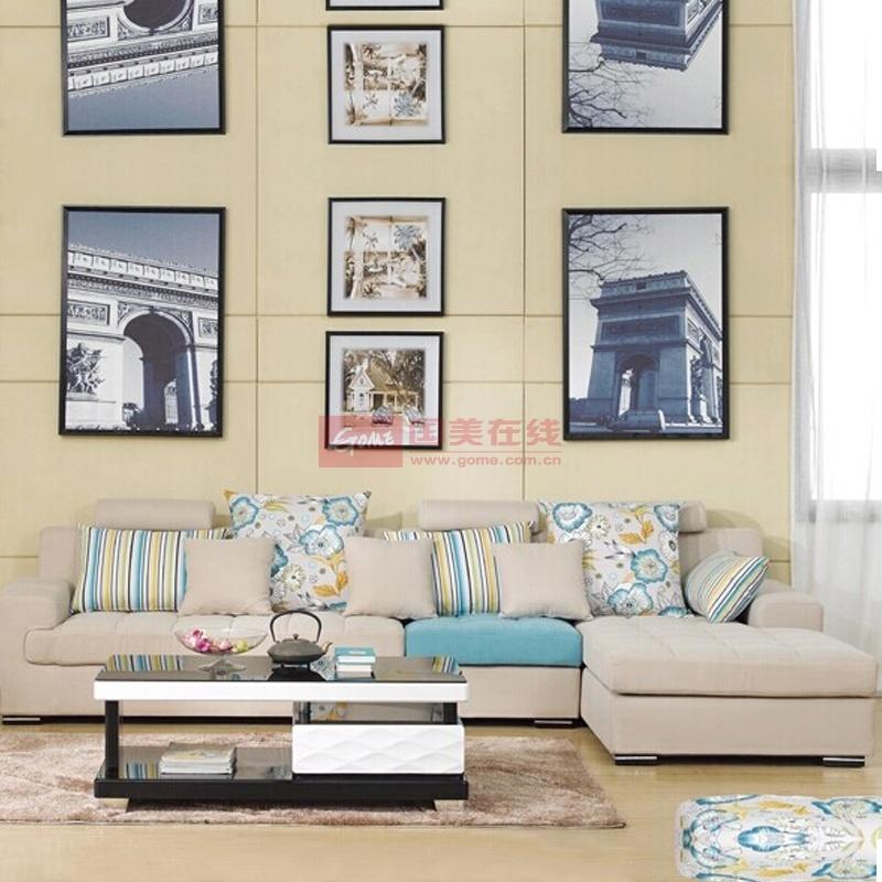 布艺沙发组合客厅转角大小户型布艺沙发