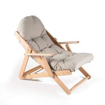 简约主义实木榉木躺椅休闲椅折叠椅沙滩椅阳台椅座椅