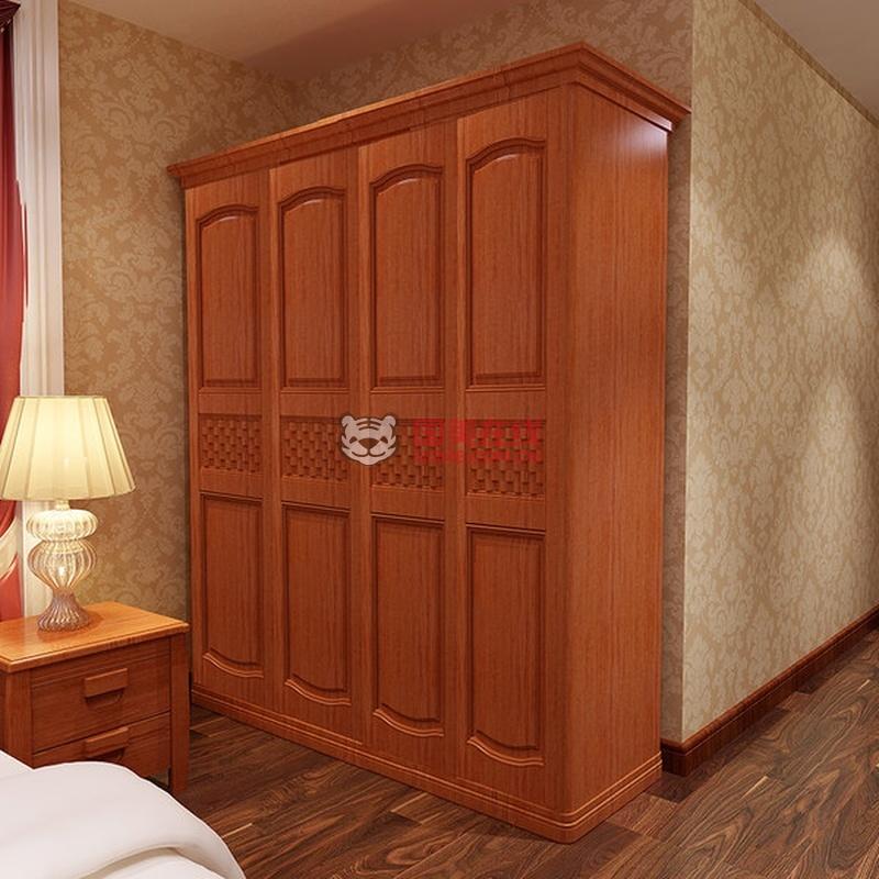 木帆家具 实木衣柜 四门