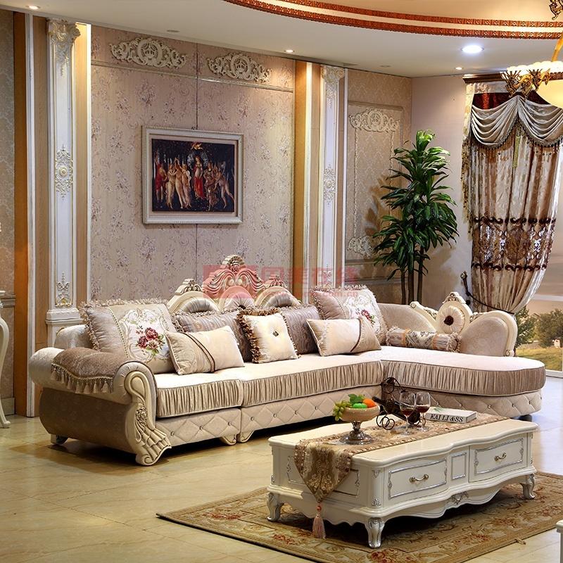 欧式布艺沙发组合 布沙发