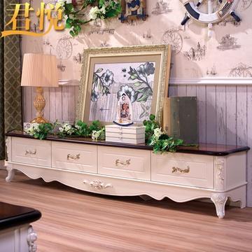 君悦 地中海实木电视柜组合电视机柜客厅美式乡村地