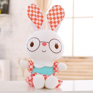 可爱兔子毛绒玩具公仔 小白兔玩偶布娃娃抱枕 儿童节生日礼物女生(小