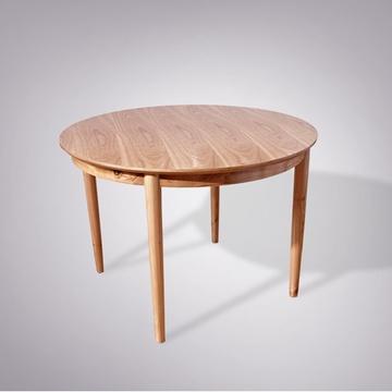 爱尚妮私家具 全实木餐桌北欧风情简约餐台时尚圆餐桌