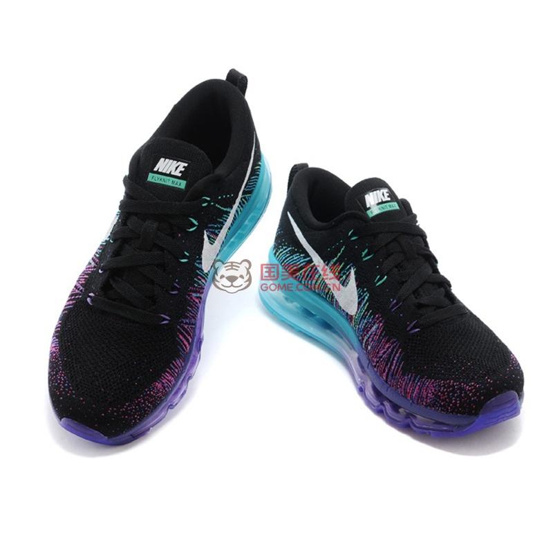 耐克flyknit air max彩虹编织气垫跑步鞋图片